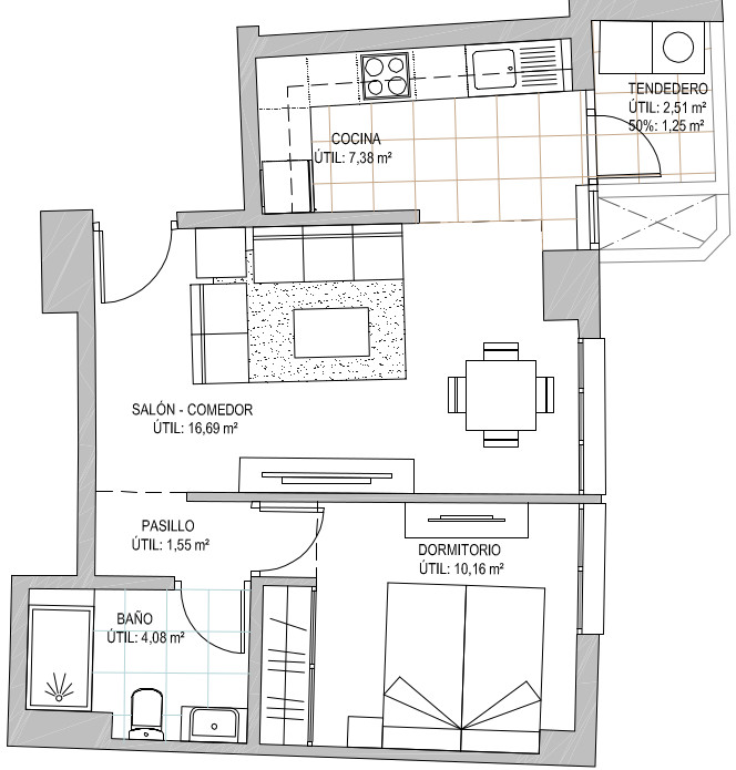 1 Dormitorio Portal 3 Izquierda 1